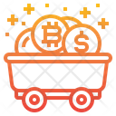 Bitcoin Mine Cart Currency Icon