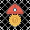 Bitcoin Cryptocurrency Helmet Icon