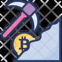 Bitcoin Mining Mine Icon