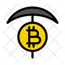 Bitcoin Digging Cryptocurrency Icon