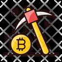 Bitcoin Mining Blockchain Exploring Bitcoin Icon