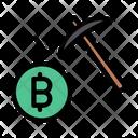 Bitcoin Mining Digging Icon