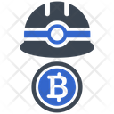 Cryptocurrency Mining Bitcoin Icon