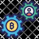 Bitcoin Mining Bitcoin Payments Process Bitcoin Transaction Process Icon