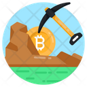 Bitcoin Mining Cryptocurrency Mining Cryptocoin Mining Icon