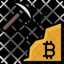 Bitcoin Mining Mining Pickaxe Icon