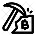 Bitcoin Mining Cryptocurrency Blockchain Icon