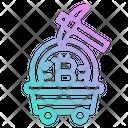Crypto Blockchain Mining Coin Gold Icon