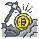 Mining Cryptocurrency Bitcoin Digital Currency Money Blockchain Icon