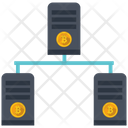 Bitcoin Mining Pool Multimedia Icon