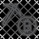 Bitcoin Mining Money Icon