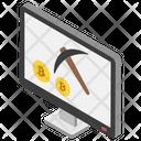 Bitcoin Mining Bitcoin Transaction Process Bitcoin Payments Process Icon