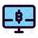 Monitor Pc Cryptocurrency Icon