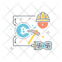 Bitcoin Mining Craft Icon