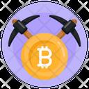 Bitcoin Mining Bitcoin Mining Axe Crypto Mining Icon