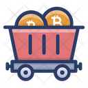 Bitcoin Mining Cart Icon
