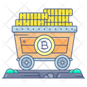 Bitcoin Mining Cart Bitcoin Trolley Bitcoin Pushcart Icon
