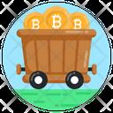 Bitcoin Mining Cart Bitcoin Trolley Bitcoin Pushcart Icon