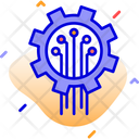 Bitcoin Mining Network Blockchain Bitcoin Mining Technology Icon