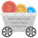 Bitcoin Mining Trolley Icon