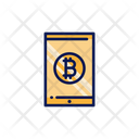 Bitcoin Mobile Mobile Online Money Icon