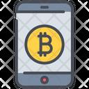 Bitcoin Mobile Smartphone Icon