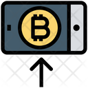 Bitcoin Mobile Bitcoin Smartphone Icon