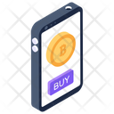 Bitcoin Mobile Bitcoin App Mobile Cryptocurrency Icon