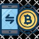 Bitcoin Mobile Blockchain Icon
