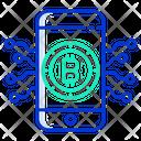 Bitcoin Mobile Connection Icon