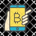 Bitcoin mobile wallet Icon