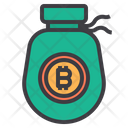 Money Bitcoin Cryptocurrency Bag Bitcoin Money Bag Icon