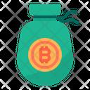 Bitcoin Money Bag Icon