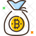 Bitcoin Money Bag Icon