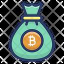 Bitcoin Money Sack Icon