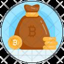 Bitcoin Money Sack Digital Wealth Blockchain Sack Icon