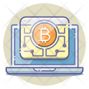 Bitcoin Network Ledger Mining Icon