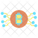 Technology Cryptocurrency Bitcoin Network Digital Money Icon