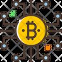 Network Bitcoin Network Bitcoin Connection Icon