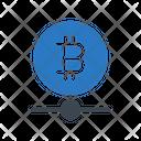 Bitcoin Network Connection Icon