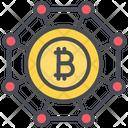 Bitcoin Bitcoins Blockchain Icon