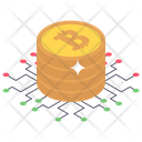 Bitcoin Network Cryptocurrency Network Financial Network Icon