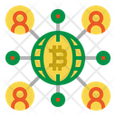 Network Bitcoin Global Icon