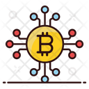 Bitcoin Network Cryptocurrency Network Social Network Financial Network Icon