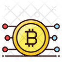 Bitcoin Network Digital Currency Cryptocurrency Icon