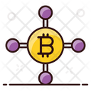 Bitcoin Network Bitcoin Infrastructure Cryptocurrency Network Icon