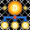 Subtitles Network Bitcoin Icon