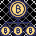 Bitcoin Network Blockchain Bitcoin Network Structure Icon