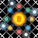 Bitcoin Network Bitcoin Node Blockchain Icon