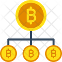 Bitcoin Network Blockchain Bitcoin Network Structure Icon